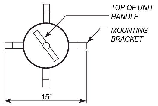 340HT-N Bracket Diagram
