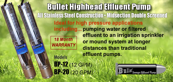 Bullet Highhead Effluent Pumps